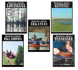Learn history about five mid-west states in Discoveries America Lower Mid-West States 5 DVD Collection.