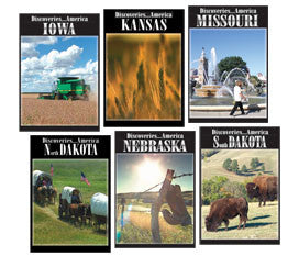 Discoveries America Upper Mid-West States 5 DVD Collection finishes off the last of the states- North Dakota, Iowa, Kansas, Missouri Nebraska, and South Dakota.