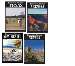 See what these four states have to offer in Discoveries America Desert Southwest States 4 DVD Collection