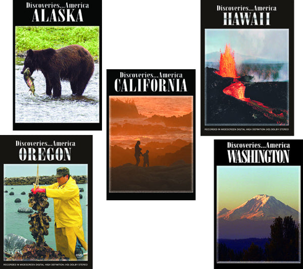 Tourist attractions and places of interest in Alaska, Washington, Oregon, California and Hawaii are explained in this episode of Discoveries America Pacific Coast 5 DVD Collection