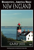 New England with Steinway Artist Gary Jess features pianist Gary Jess while relaxing images of New England flash across the screen.