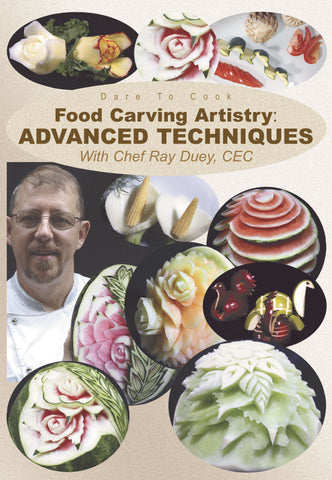 Food Carving Artistry, Advanced Techniques with Chef Ray Duey, CEC shows you how to create more delicate designs