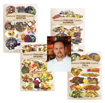 Dare to Cook Seasonal Italian Cuisine setw/ Chef Tom Small  4 DVD Set includes dishes for every season