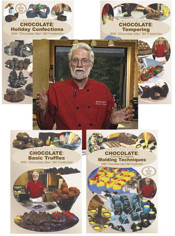 Enjoy some of the techniques taught by Bill Fredericks of how to make different creations out of chocolate.