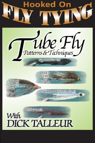 Tube Fly Patterns and Techniques with Dick Talleur, Hooked On Fly Tying Series teaches you 5 pattens along with the techniques and tricks for each one