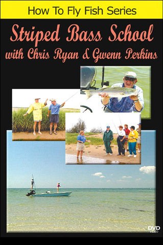Striped Bass School with Gwenn Perkins and Chris Ryan explains the basics of saltwater fly fishing.