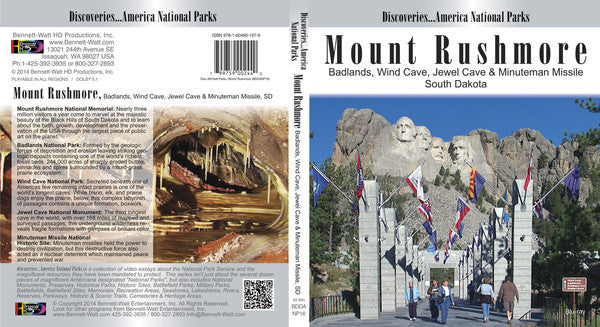 Learn all about various national parks in Discoveries America National Parks, Mt. Rushmore, Badlands, Wind Cave, Jewel Cave, and Minuteman Missile.