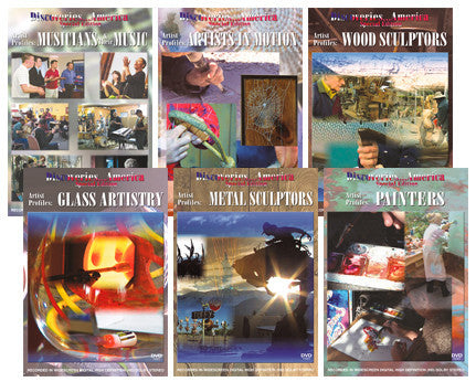 Discoveries America Artist Profiles 6 DVD Collection presents artists, painters, sculptors, and more.