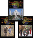 Discoveries India  DVD SET features the Golden Triangle, Land of Maharajas, and Rural Treasures.