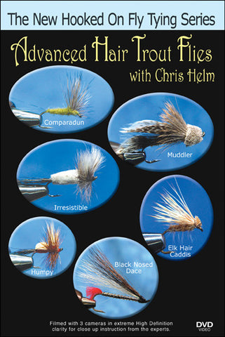 "Chris Helm teaches advanced details like how much hair to use and what denisty works best in his new series ""Advanced Hair Trout Flies""."