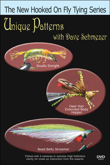 Unique Patterns with Dave Schmezer New Hooked On Fly Tying Series takes you out of your comfort zone with some bizarre but effective patterns.