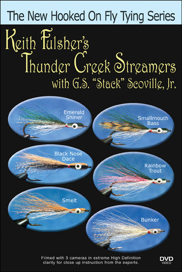 Keith Fulsher's Thunder Cr. (Baitfish) Streamers with Stack Scoville New Hooked On Fly Tying Series teaches you to tie Thunder Creek styles.