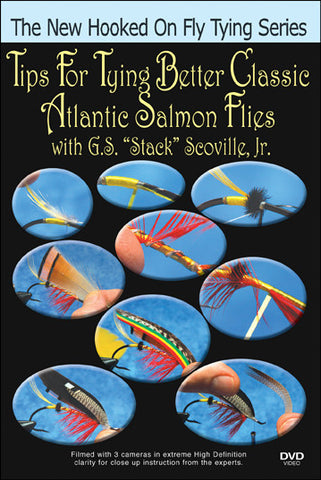 Tips for Tying Better Classic Atlantic Salmon Flies New Hooked On Fly Tying Series instructs you how to tie more useful Atlantic Salmon Flies.