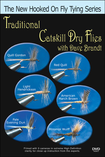 Traditional Catskill Dry Flies with Dave Brandt New Hooked On Fly Tying Series takes a new approach to the classic pattern, but these are still just as good on the river.