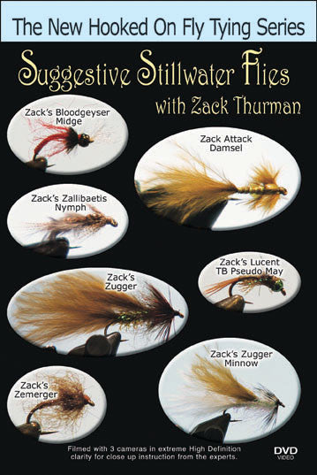 Zack Thurman presents his knowledge in fly fishing as well as show you his signature ties in Suggestive Stillwater Flies with Zack Thurman
