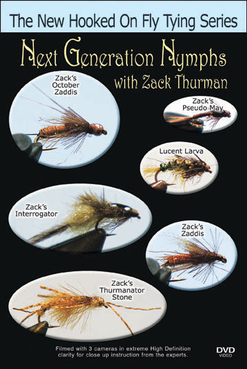 Next Generation Nymphs with Zack Thurman shows you how to tie six various patterns from Zack Thurman who has spent countless hours perfecting his trade.
