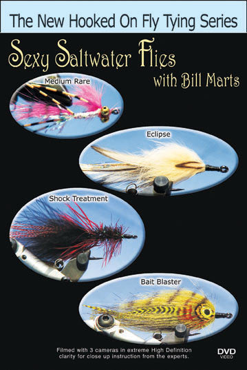 Sexy Saltwater Flies with Bill Marts shows you how to tie four different ties