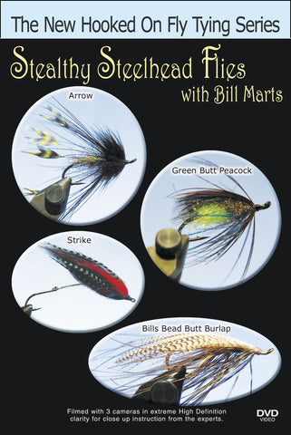 The New Hooked on Fly Tying Series, Stealthy Steelhead Flies with Bill Marts teaches you to tie four different flies with the experienced Bill Marts.