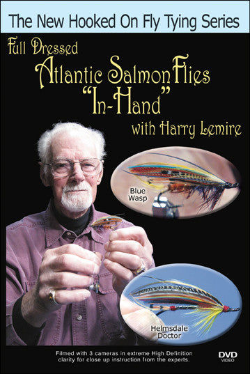"Full Dressed Atlantic Salmon Flies ""In-Hand"" with Harry Lemire passes on his skills at tying with his fingers."