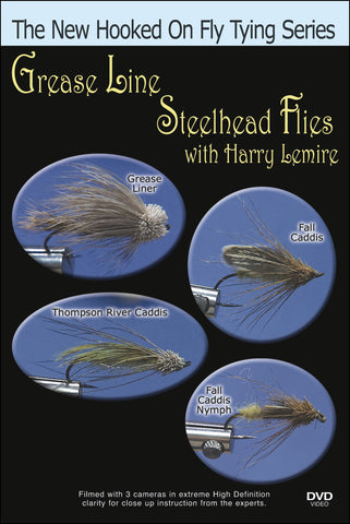 Greased Line Steelhead Flies with Harry Lemire is the best way to see Lemire use natural substances to tie his flies instead of man made materials.