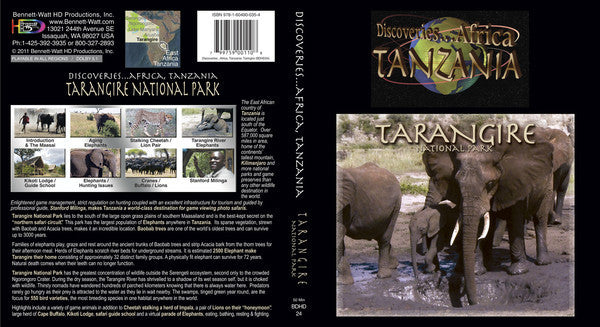 Discoveries Africa Tanzania: Tarangire National Park (Blu-ray) features the greatest concentration of wildlife outside the Serengeti ecosystem.