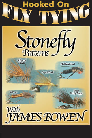 Watch Stonefly Patterns with James Bowen, Hooked On Fly Tying  Series for patterns that actually work.  Learn 5 types of flies in this episode.
