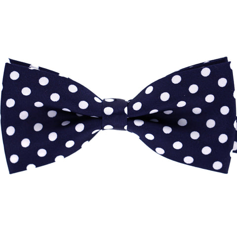 Tok Tok Designs Pre-Tied Bow Tie for Men & Teenagers (B124, Navy Blue Color)