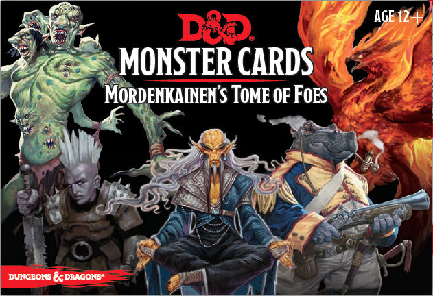 D&D Spellbook Cards Mordenkainens Tome of Foes Deck