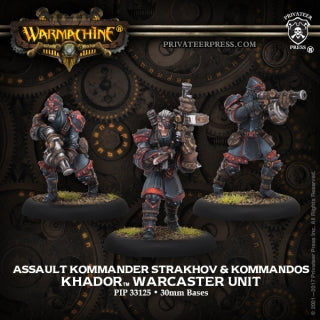 PIP33125 Khador Assault Kommander Strakhov and Kommandos