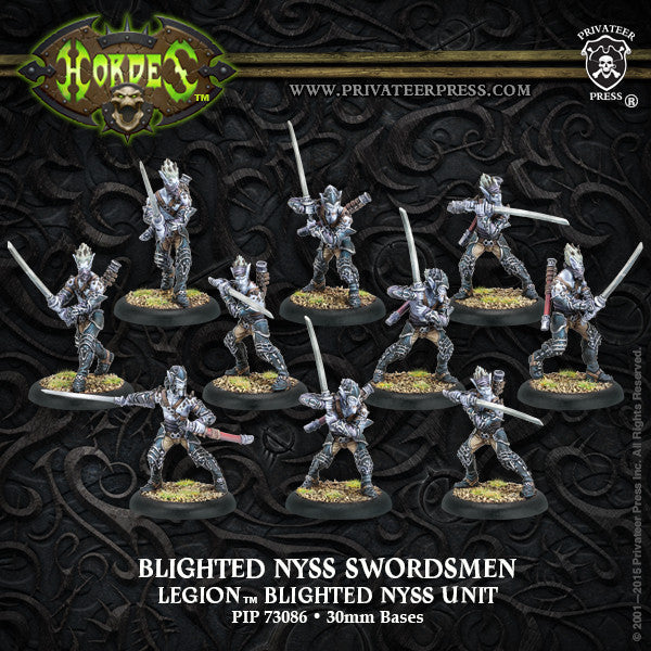 PIP73086	Blighted Nyss Archers/Swordsmen Legion Unit (10) (plastic)