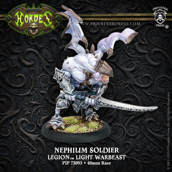 PIP73093	Nephilim Soldier Legion Light Warbeast (plastic)