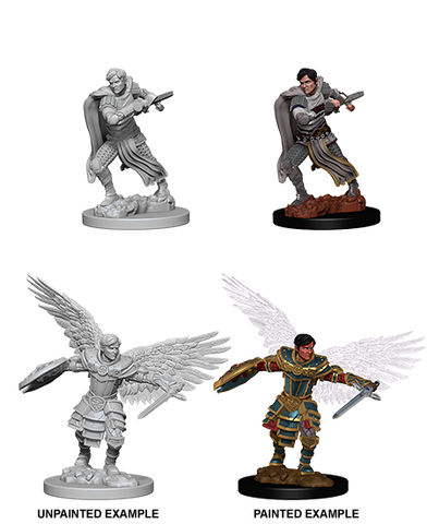 D&D Nolzurs Marvelous Unpainted Miniatures Male Aasimar Fighter