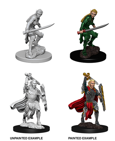 D&D Nolzurs Marvelous Unpainted Miniatures Female Elf Fighter