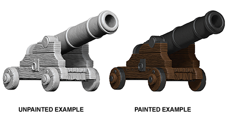 WizKids Deep Cuts Unpainted Miniatures Cannons
