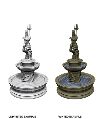 WizKids Deep Cuts Unpainted Miniatures Fountain
