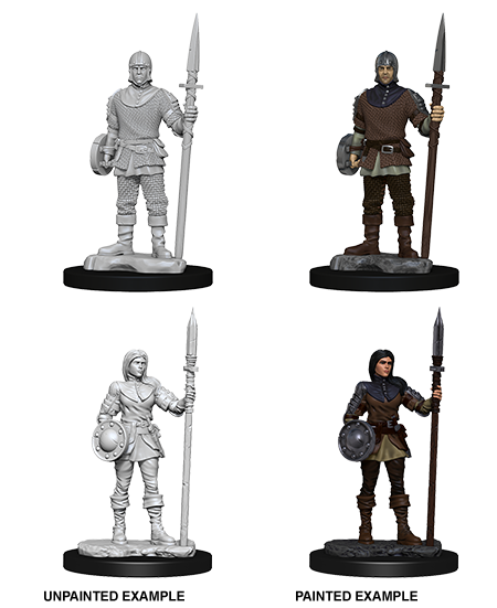 WizKids Deep Cuts Unpainted Miniatures Guards