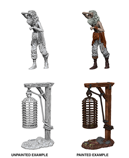 WizKids Deep Cuts Unpainted Miniatures Hanging Cage