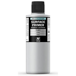 74.601 Vallejo Auxiliary Surface Primer: Grey (200ml)