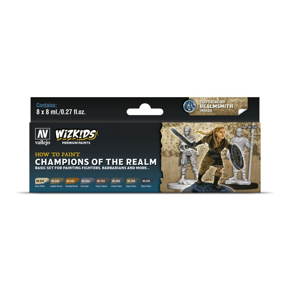 Wizkids Premium Paint Set by Vallejo: Champions of the Realm