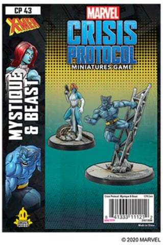 Marvel Crisis Protocol Beast and Mystique Character Pack
