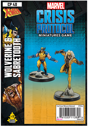 Marvel Crisis Protocol Wolverine and Sabretooth Character Pack