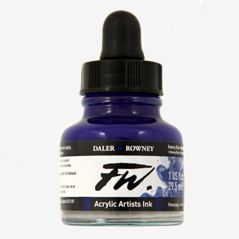DALER ROWNEY : FW ARTISTS' INK : 29.5ML : ROWNEY BLUE