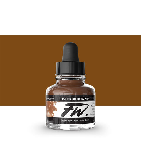 Copy of DALER ROWNEY : FW ARTISTS' INK : 29.5ML : RED EARTH