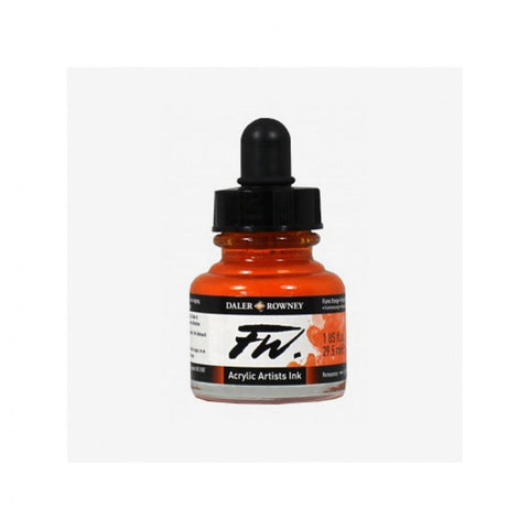 DALER ROWNEY : FW ARTISTS' INK : 29.5ML : FLAME ORANGE