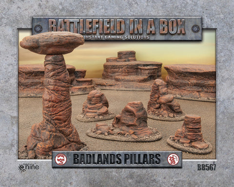 Battlefield in a Box - Badlands Pillars