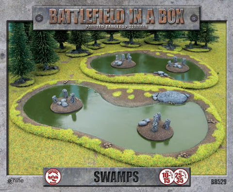 Battlefield in a box - Swamps - Terrain Set