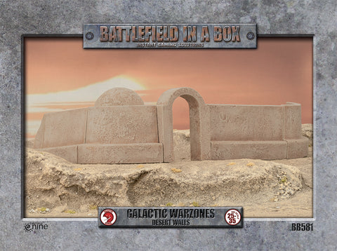 Battlefield in a box - Galactic Warzones - Desert Walls
