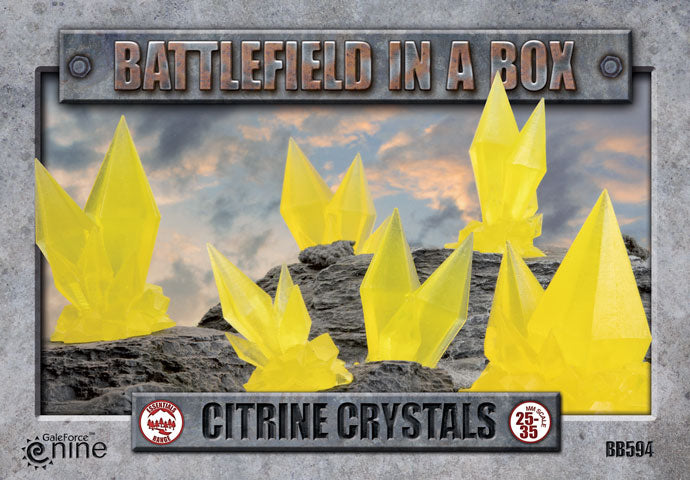 Battlefield in a Box - Citrine Crystals