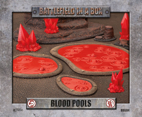 Battlefield in a box - Blood Pools (x2) - 30mm