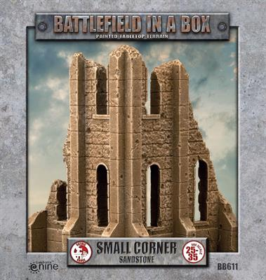 Battlefield in a box - Gothic Battlefields - Small Corner - White (x2) - 30mm